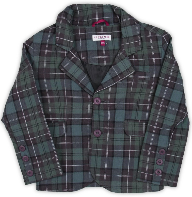 US Polo Kids Full Sleeve Checkered Boys Jacket