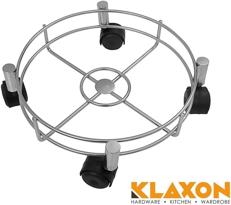 Klaxon Cylinder Stand with wheels Stainless Steel Kitchen Trolley