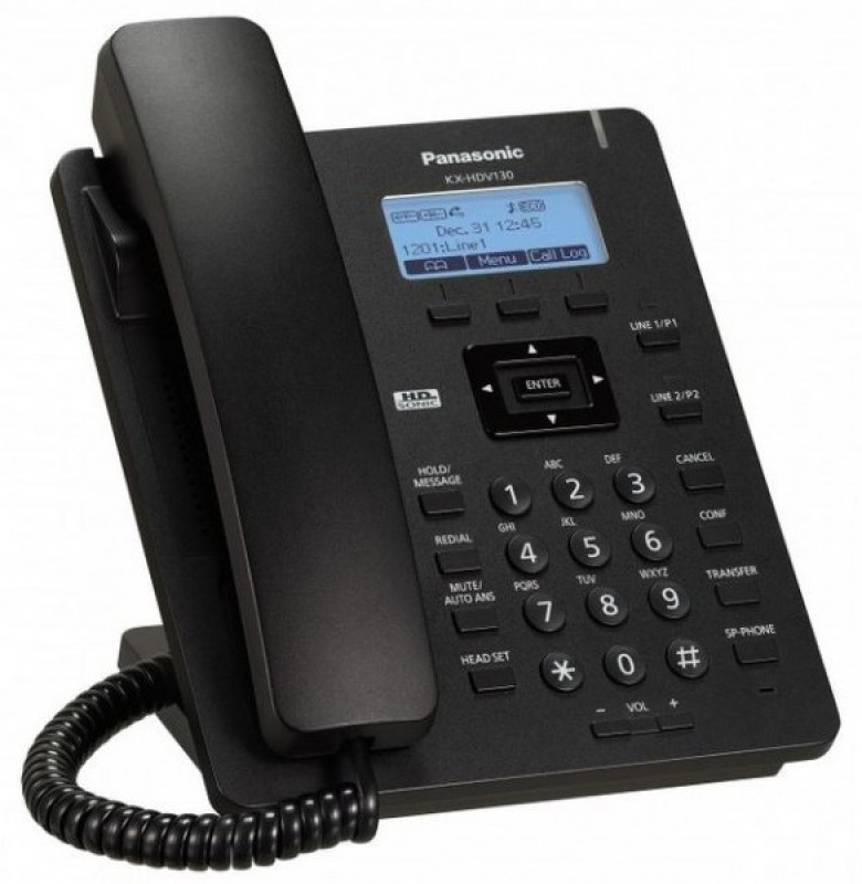 Panasonic KX-HDV130SXB Corded Landline Phone(Black)