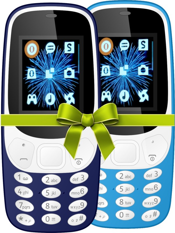 I Kall K3310 Combo Of Two Mobile(Dark Blue, Light Blue)