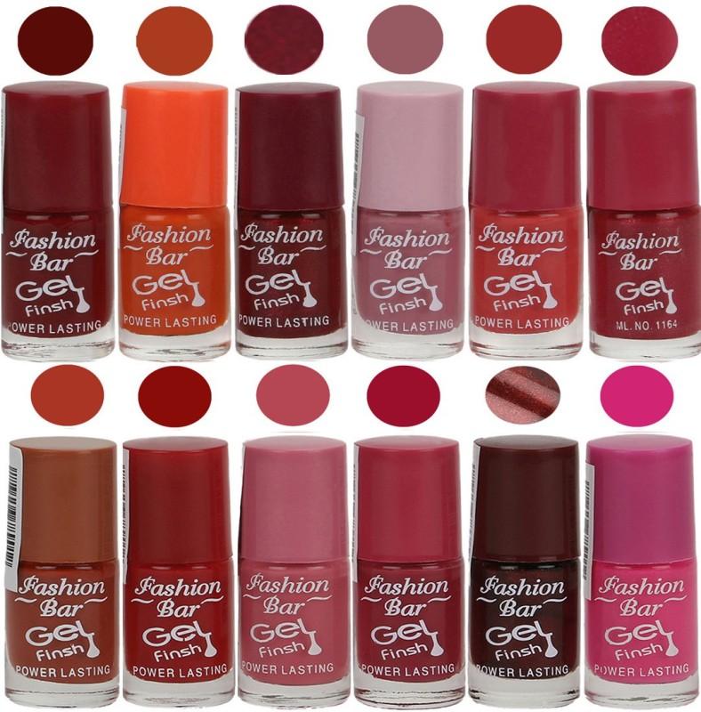 Fashion Bar Exclusive Color Range Nail Polish Set of 12 Brown(Pack of 12)