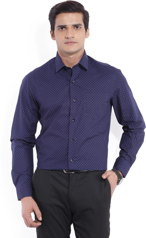 Arrow Men's Printed Formal Dark Blue Shirt
