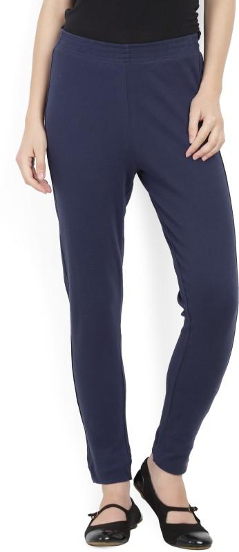 Biba Regular Fit Women's Blue Trousers