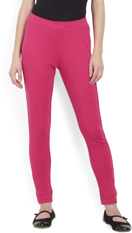 Biba Slim Fit Women's Pink Trousers