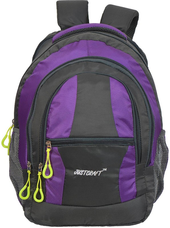 Justcraft Airport 1000D 30 L Backpack(Grey, Purple)