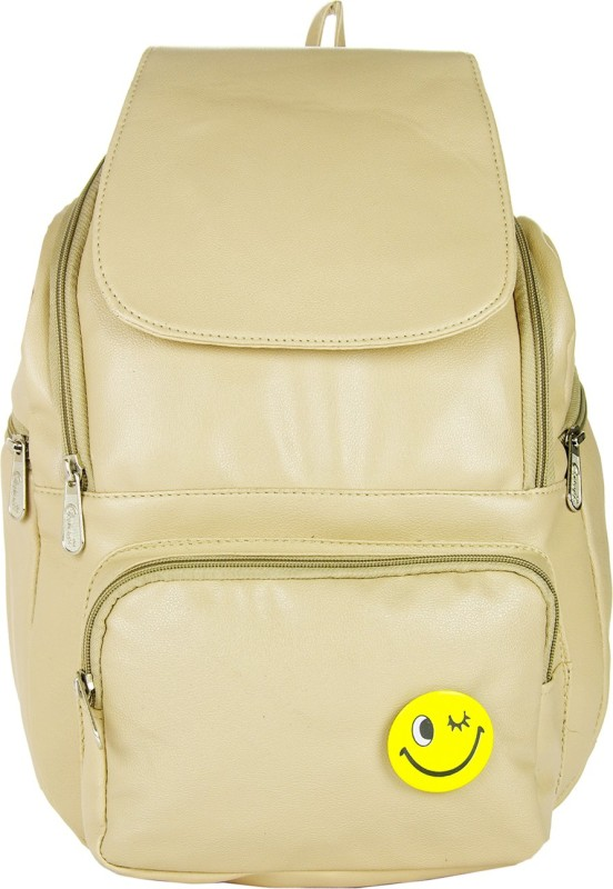 JG Shoppe JGFlap05 8 L Backpack(Beige)
