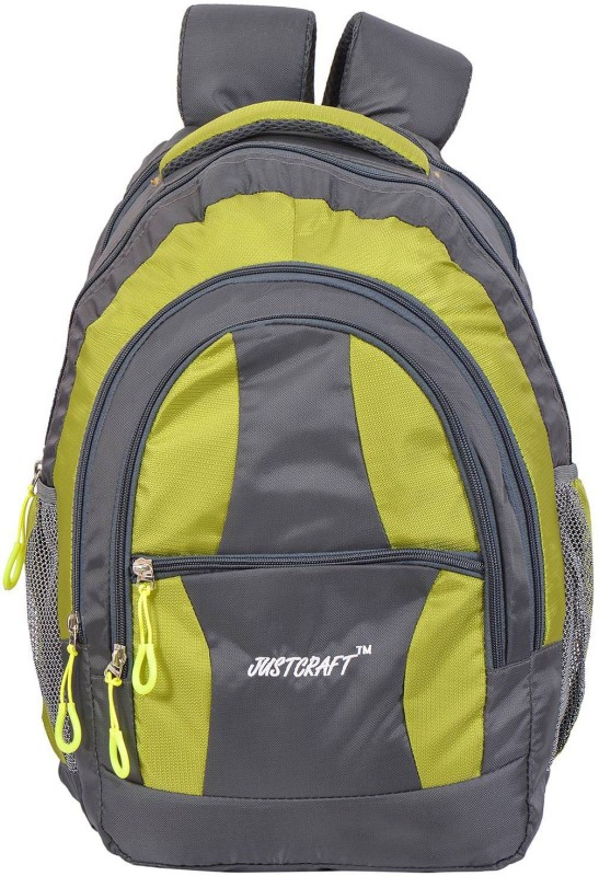 Justcraft Airport 1000D 30 L Backpack(Grey, Green)