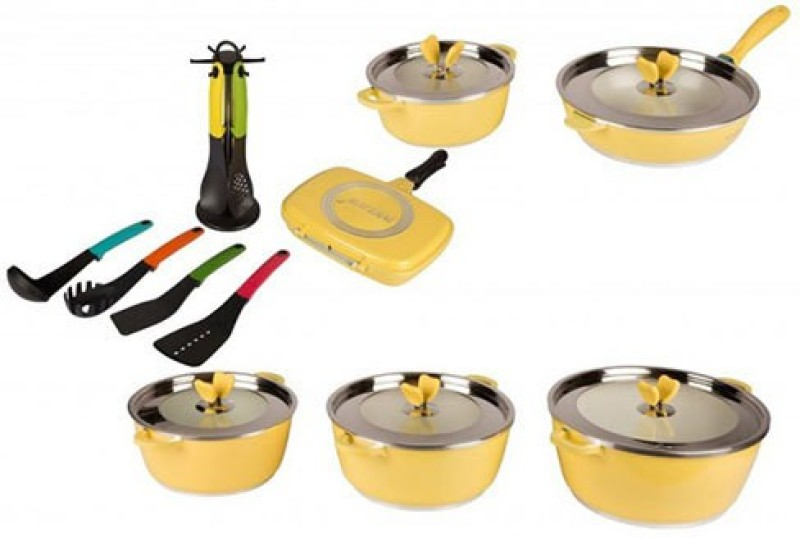 Lalco interiors Induction Bottom Cookware Set(Aluminium, Ceramic)