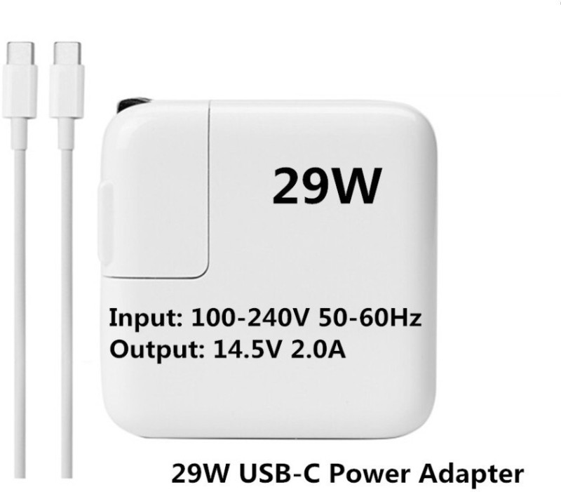 SellZone OEM Power Adapter Apple A1540 Charger For MacBook 12 14.5V 2A 29W USB-C(With USB-C Cable) 29 W Adapter(Power Cord Included)