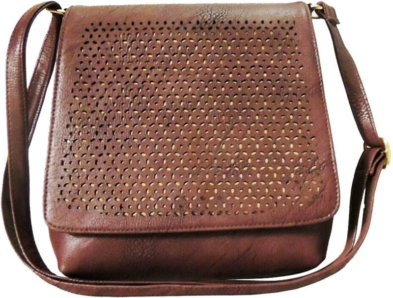 Faijan Fashions Brown Sling Bag