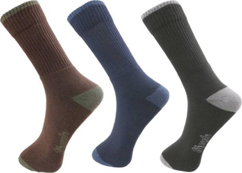 Wrangler Men Solid Crew Length Socks(Pack of 3)