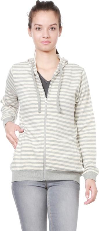 People Full Sleeve Striped Women Sweatshirt