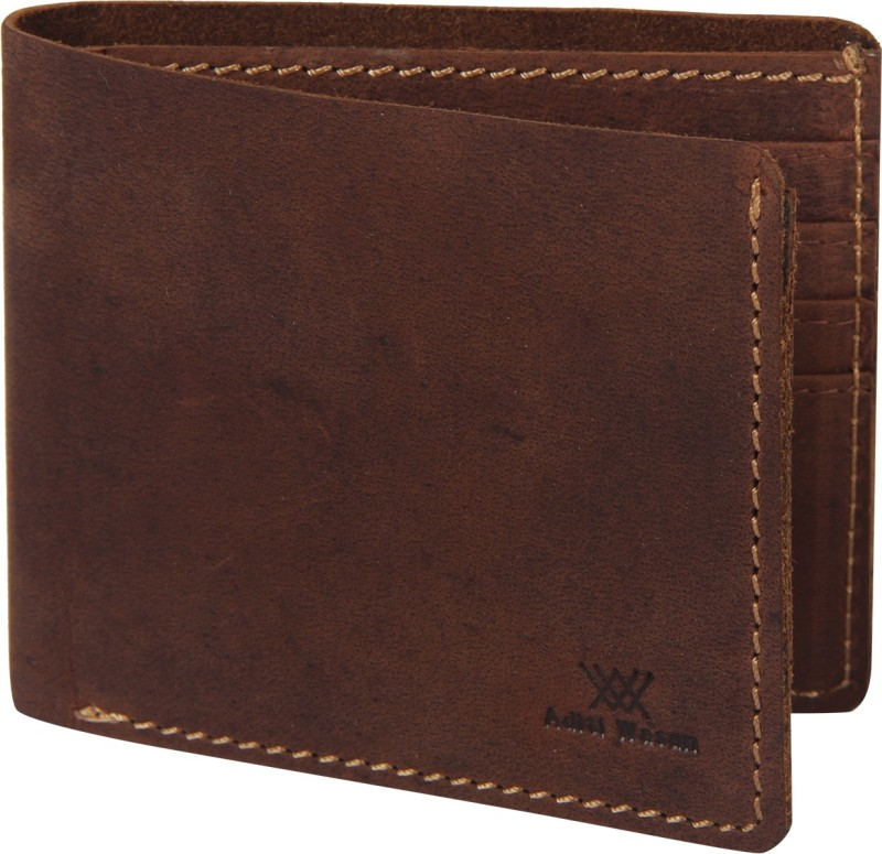 Aditi Wasan Men Brown Genuine Leather Wallet(6 Card Slots)