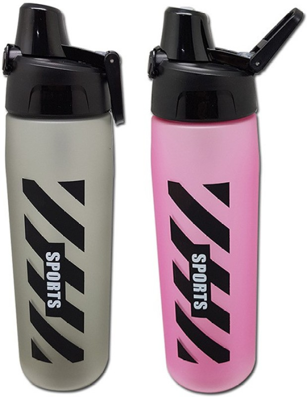 Tuelip Combo of Black and Pink Sports Water Bottle For Outdoor Cycling...
