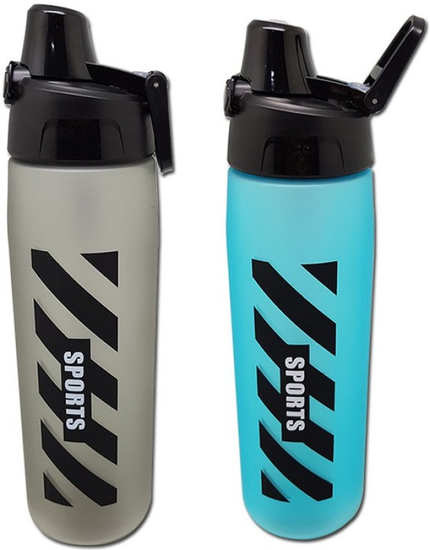 Tuelip Combo of Black and Blue Sports Water Bottle For Outdoor Cycling...