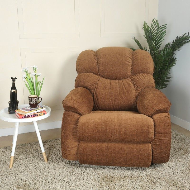 La-Z-Boy Dreamtime Fabric Manual Rocker Recliners(Finish Color - Dark Brown)