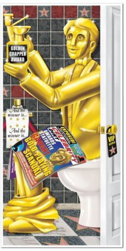 Beistle Awards Night Restroom Door Cover Party Accessory