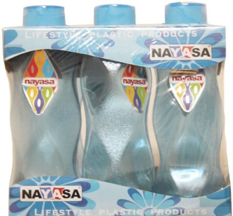 Nayasa world 1000 ml Bottle(Pack of 6, Blue)