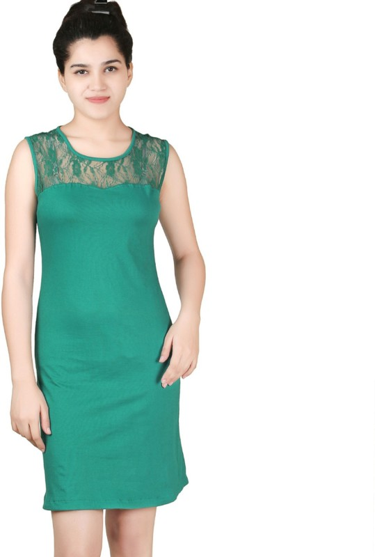 VR Designers Women Shift Green Dress