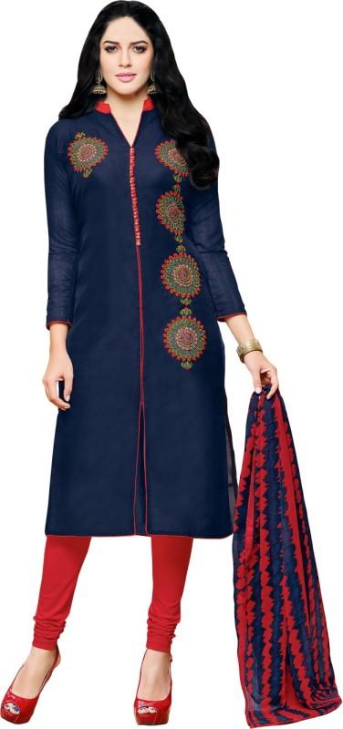 Ratnavati Chanderi Embroidered Salwar Suit Dupatta Material(Un-stitched)