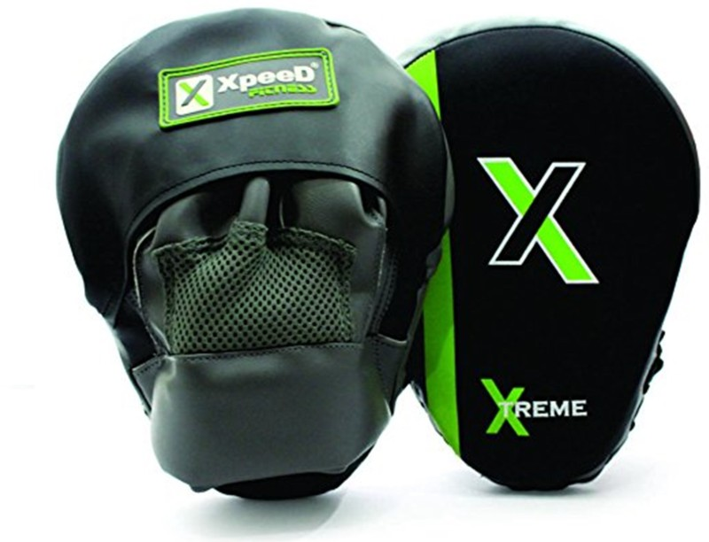 Xpeed Combo of Focus Pads with Curved Thai Pad Curved Focus Pad(Black)