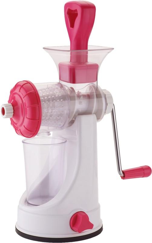 VR Unbreakable Fruit & Vegetable Plastic, Stainless Steel Hand Juicer(Pink Pack of 1)