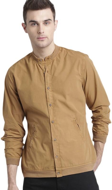 Roadster Men Solid Casual Brown Shirt