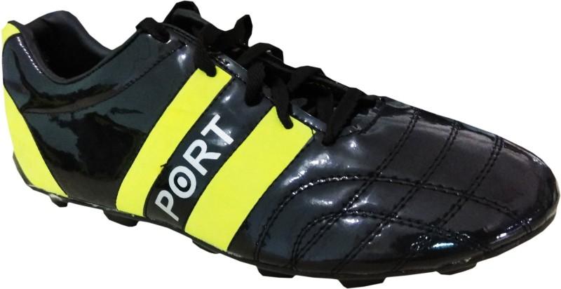 Port StrungDust Football Shoes For Men(Black)