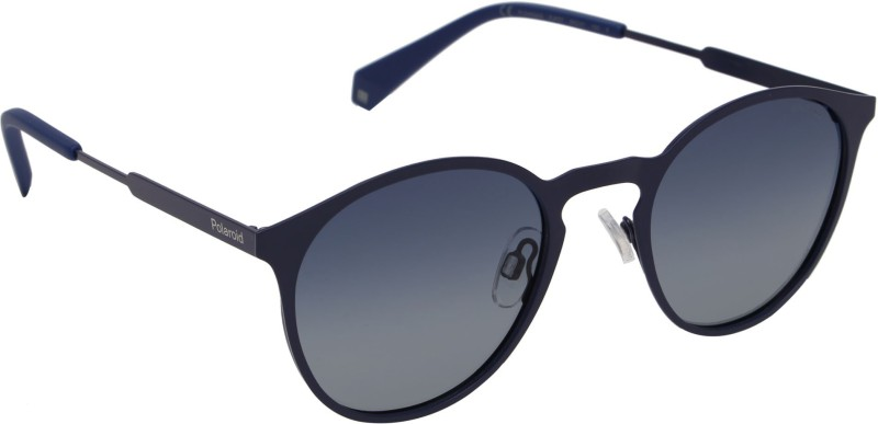 Polaroid Round Sunglasses(Blue)