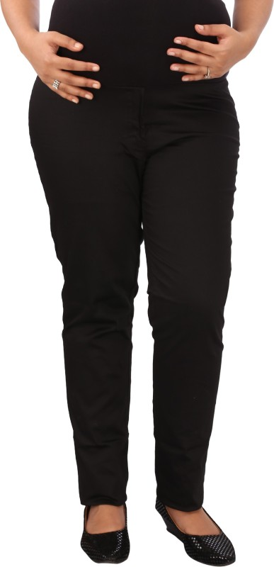 Mammas Maternity Regular Fit Womens Black Trousers