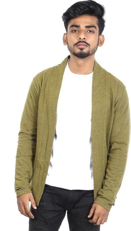Roden Men's No Closure Solid Cardigan