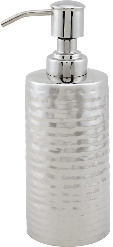 SWHF SWHF High Grade SS Hammered Soap Dispenser 500 ml Soap Dispenser(Silver)