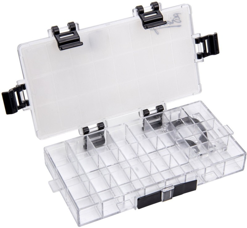 BIANYO Acrylic 24 Paint Wells Palettes  with Lid(Set of 1, Transparent)