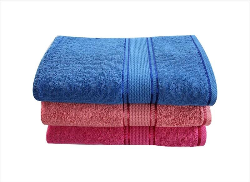LABNO Cotton 300 GSM Bath Towel Set(Pack of 3, Multicolor)