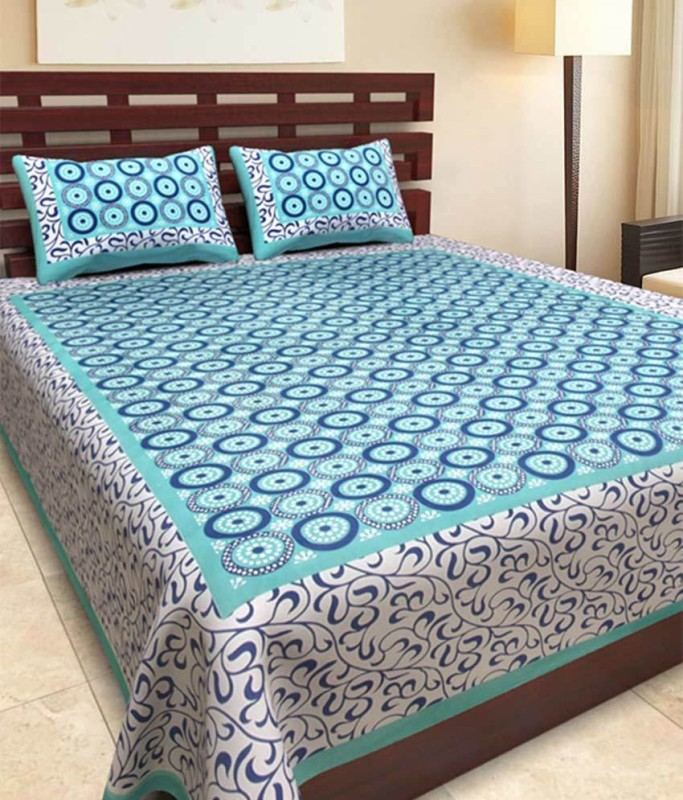 Naiwal Fashion Cotton Double Bed Cover(Multicolor, 1 Double Bed Cover With 2 Pillow Covers)