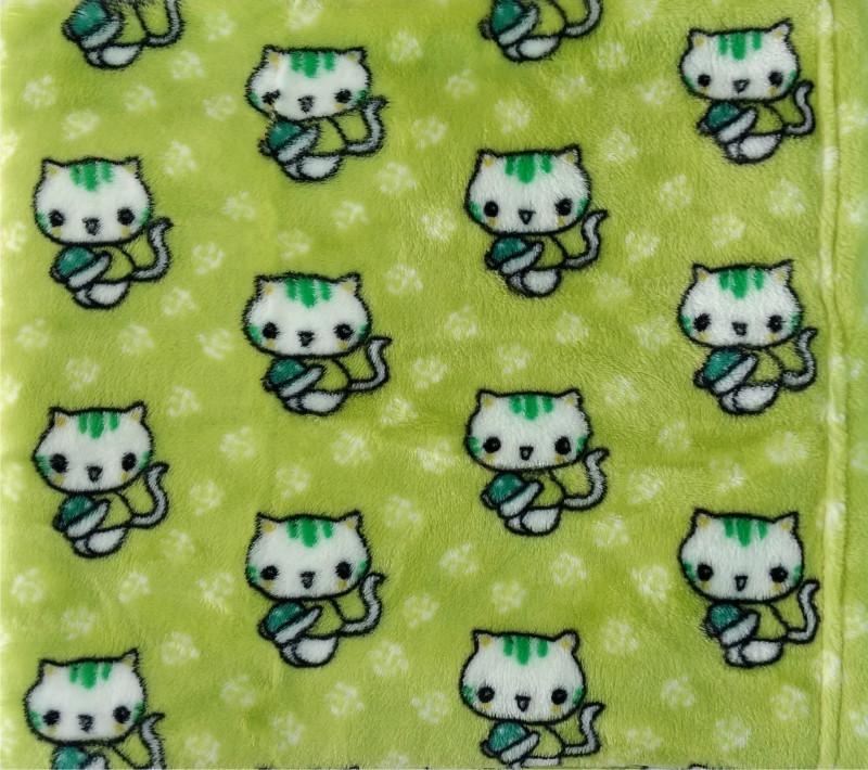 Carters Animal Single Blanket Green(Mink Blanket, 1)