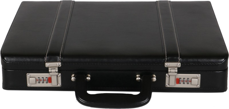 C Comfort Faux Leather Briefcase Medium Briefcase - For Men & Women(Black)