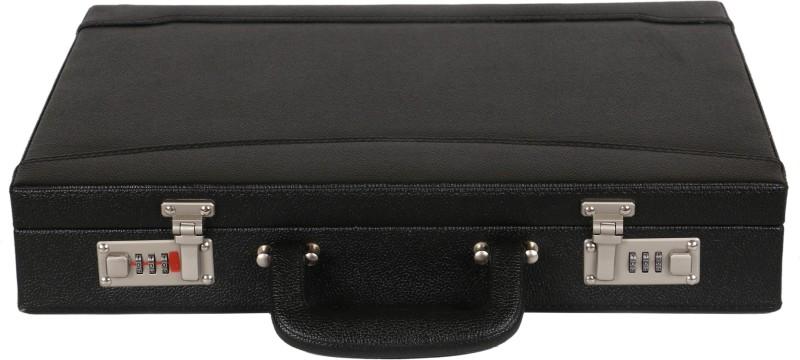 C Comfort Faux Leather Briefcase Medium Briefcase - For Men & Women(Black)