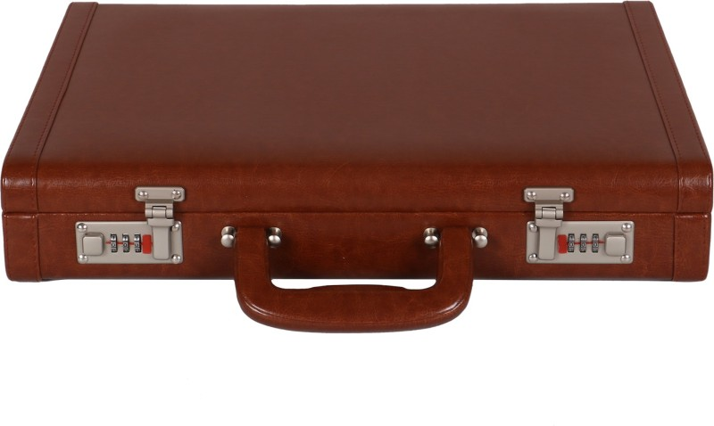 C Comfort Faux Leather Briefcase Medium Briefcase - For Men & Women(Tan)