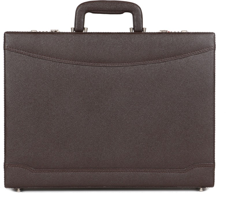 C Comfort Faux Leather Briefcase Medium Briefcase - For Men & Women(Brown)