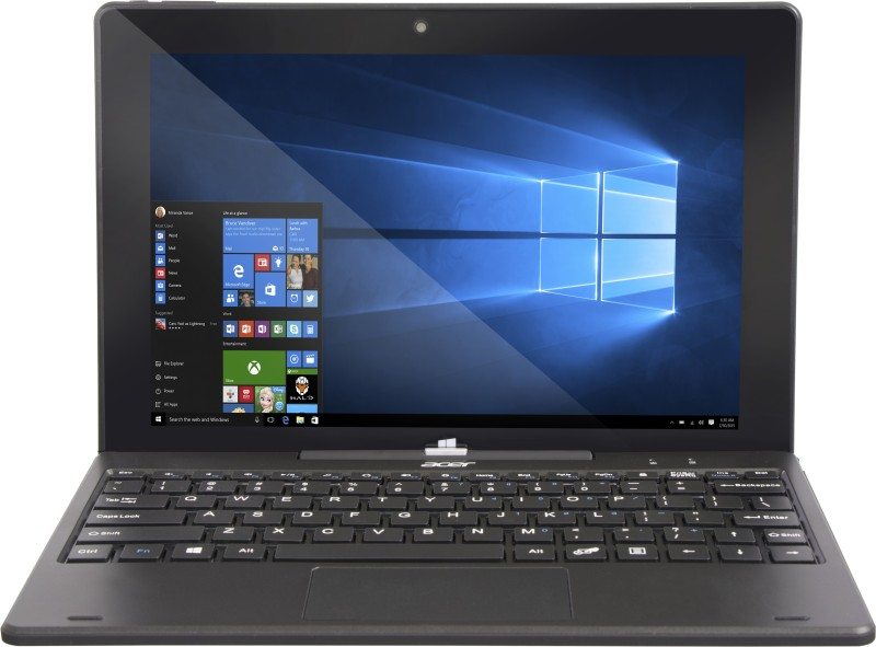 Acer Switch One Atom Quad Core - (2 GB/32 GB EMMC Storage/Windows 10 Home) SW110-1CT 2 in 1 Laptop(10.1 inch, Black)
