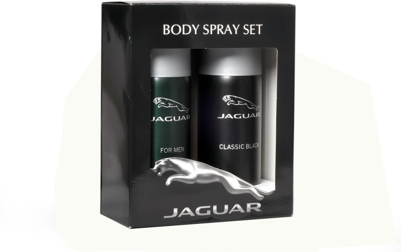 Jaguar For Men And Classic Black Deodorant Spray - For Men(300 ml, Pack of 2)