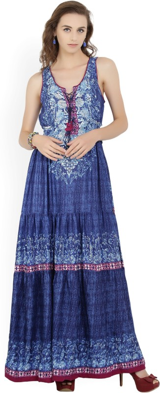 Biba Womens Maxi Blue Dress