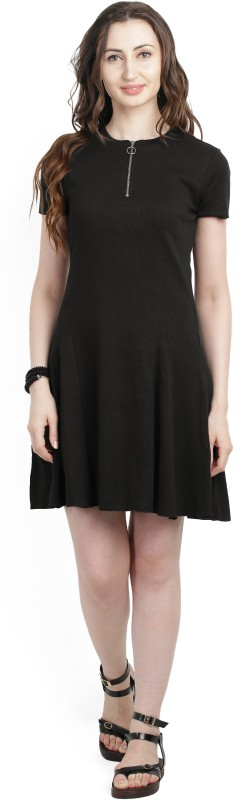 United Colors of Benetton Womens A-line Black Dress
