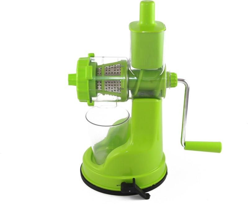 Jen Deluxe Fruit & Vegetable - with steel handle - Plastic Hand Juicer(Green Pack of 1)