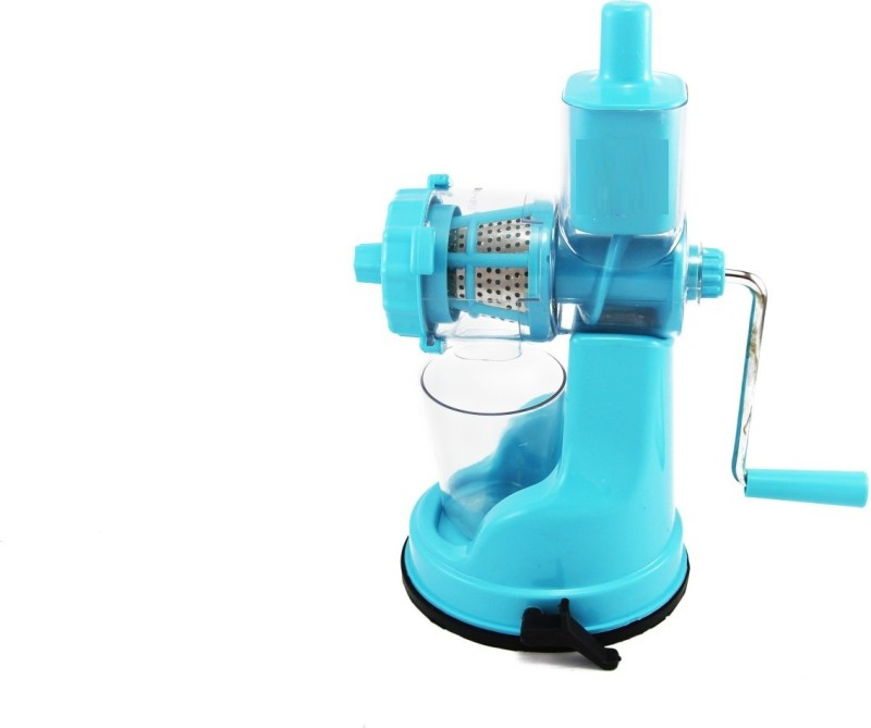 Jen Deluxe Fruit & Vegetable - with steel handle - Plastic Hand Juicer(Blue Pack of 1)
