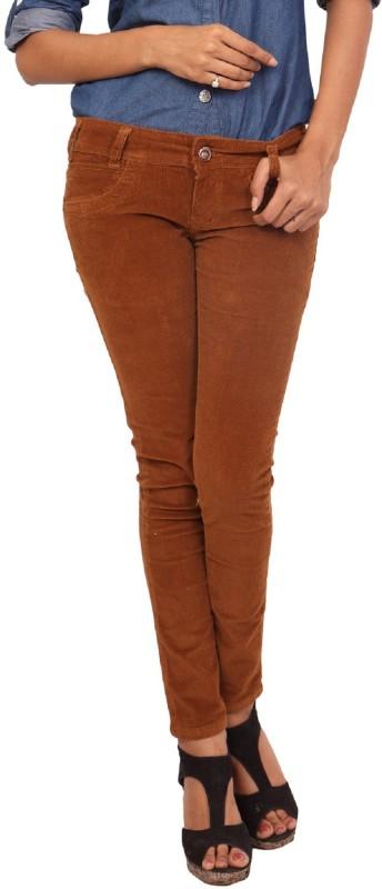 Fashion Stylus Slim Women Brown Jeans
