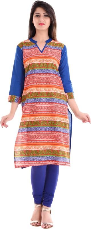 Gujari Casual Printed Women Kurti(Multicolor)
