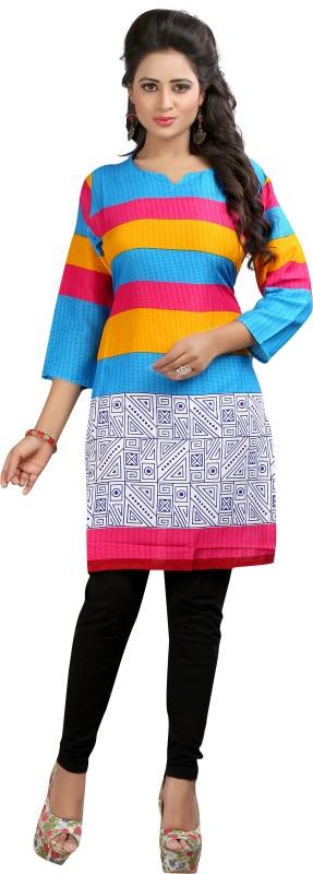 Crease & Clips Casual Printed Women's Kurti(Multicolor)