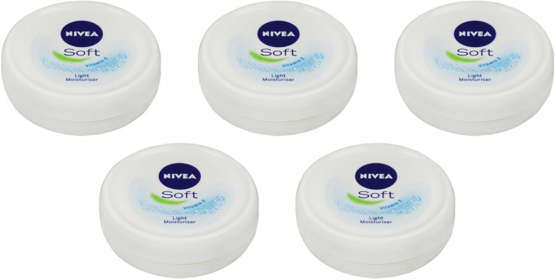 Nivea Soft Light Moistirising Cream, 25 Gm Set of 5 (25 g)